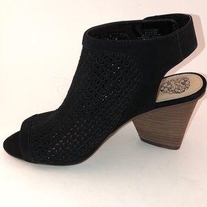Vince Camuto Black bootie sandal, size 8.5. NWOT